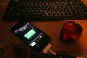 iphone  ituneの曲の一部を移行中。